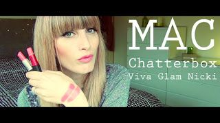 MichelaIsMyName: MAC Chatterbox VS MAC Viva Glam Nicki [Swatches]