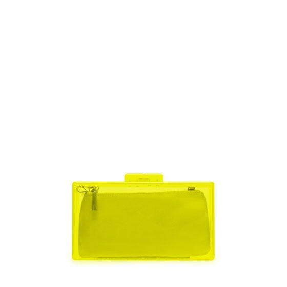 Zara NEON BOX CLUTCH