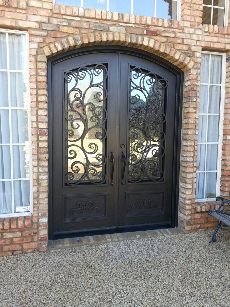 Eyebrow double door with kick plate 9 best Double Doors images on Pinterest   Double doors  Eyebrows  . Entry Door Kick Plates. Home Design Ideas