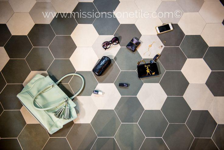 Porcelain Hexagon | 8 inch | Contemporary Hexagon Floor TIle | Terra Oliva