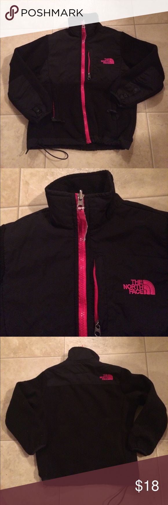 "$16 girls size S 7/8 north face Denali jacket Good used condition! ✔The price in the beginning of the title of my listings is the bundle price. These prices are valid through the ""make an offer"" feature after you create a bundle. These bundle orders must be over $15. Ask me about more details if interested.  ❌No trades ❌No holds North Face Jackets & Coats"