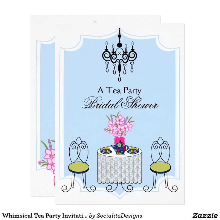 53 best Invitations for Tea Party images on Pinterest Bridal - tea party invitation