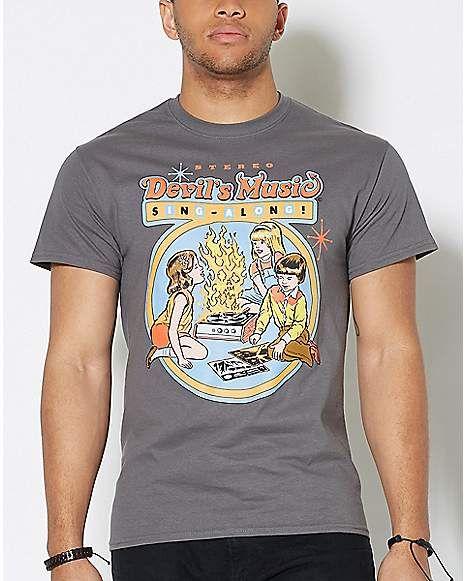 f9a592e7 Devil's Music Sing-Along T Shirt - Steven Rhodes - Spencer's ...