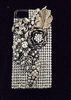 custom vintage rhinestone iphone 7 case in by ArcMosaicsandJewels