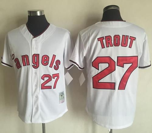 9576e00b4 ... reduced mitchell and ness angels of anaheim 27 mike trout white  throwback stitched mlb jersey 05ca9