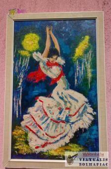 Balerina, Spanyol flamenco táncos festmény