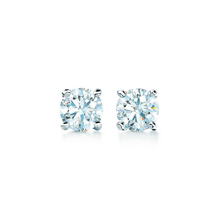 Tiffany Solitaire Diamond Earrings. The ultimate investment in lasting luxury and simplicity.
