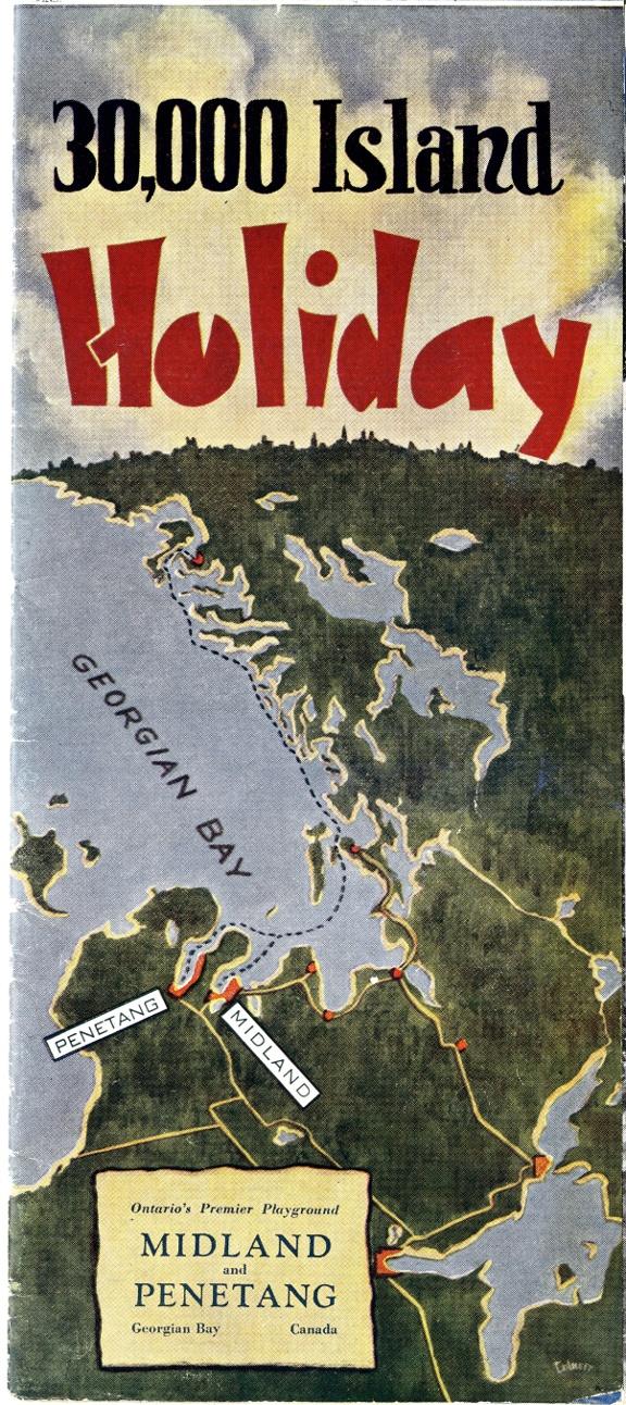 30,000 Island holiday. Ontario's premier playground. Midland and Penetang Georgian Bay, Canada. [Midland, Ont.] : Printed by Midland Press [193-?]