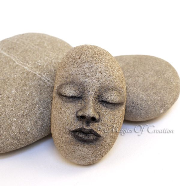 Original stone sculpture as a unique paper weight or table decor, unique artwork by Magics of Creation