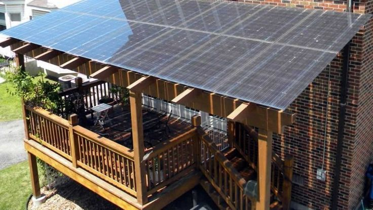 Solar Panels Used As Awning Google Search Solar Panels Renewable Solar Solar Patio