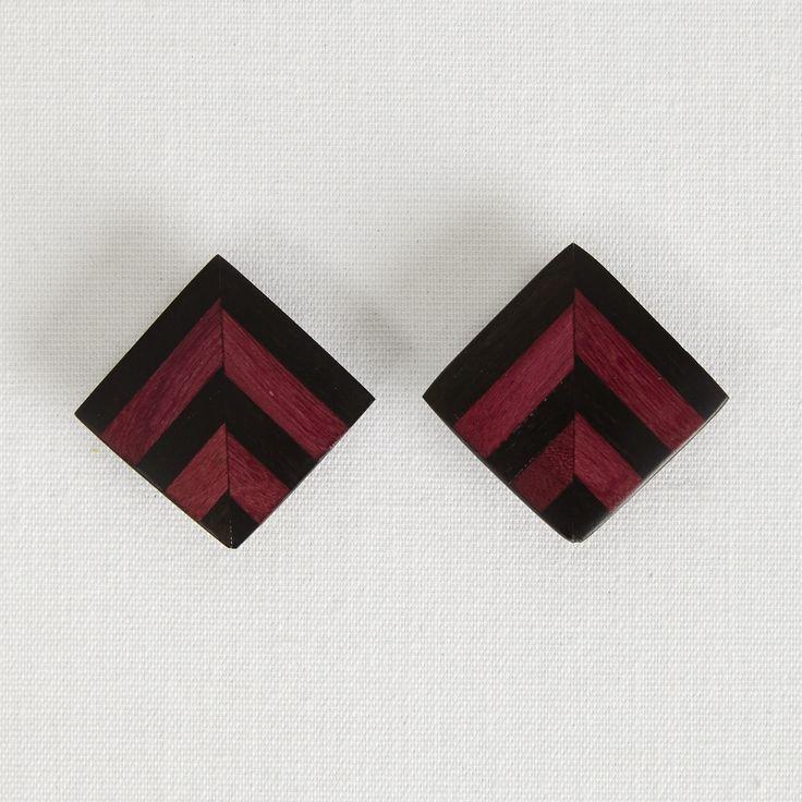 Clip-On Earrings, ZigZag