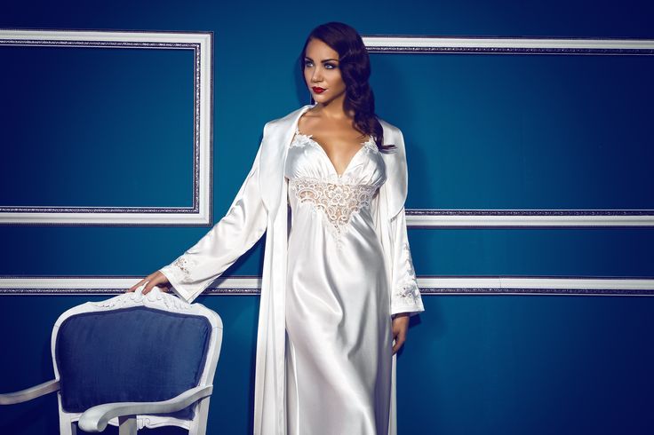 Çeyizlik Gecelik & Sabahlık / Bridal Nightgown & Robe (614) / luxurious nightwear