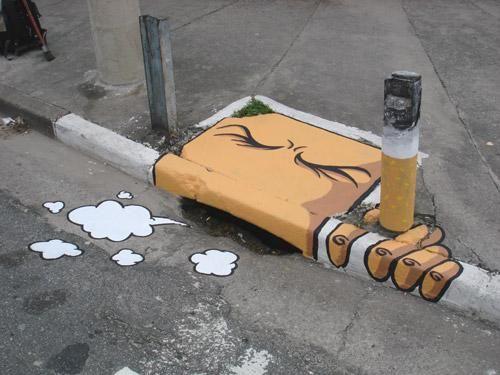Smoking is so lame, this mural rocks