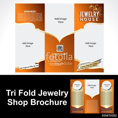 Vector: Tril Fold Jewelry Shop Brochure