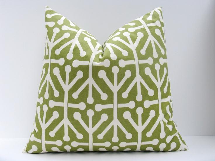 Green Pillow Cover.16x16.Decorative Throw Pillows Sage Green Pillow O?