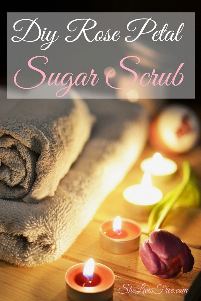 Decadent DIY Rose Petal Sugar Scrub Tutorial!  All of the luxury with none of the chemicals!
