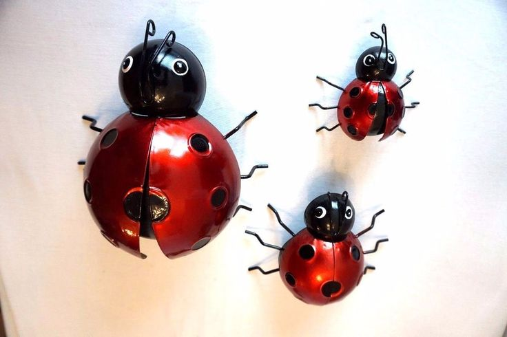LADYBIRD WALL ART OUTDOOR GARDEN INDOOR BEAUTIFUL ORNATE SHABBY CHIC