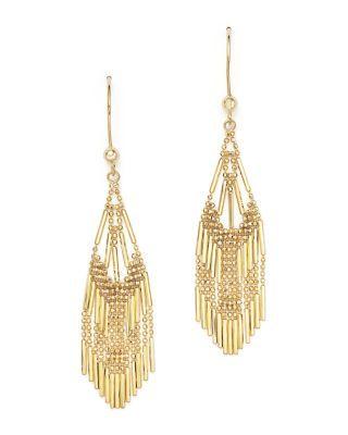 a99d9bd3bb2 BLOOMINGDALE S 14K YELLOW GOLD BEADED DANGLE EARRINGS - 100% EXCLUSIVE.   bloomingdales