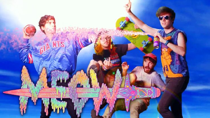 Anamanaguchi's - Meow song. It's a great chiptune rock song with... cat meow sounds (?). :D