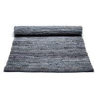 Tappeto grigio scuro 75 x 200 cm