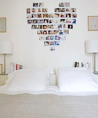 Cute idea for teenage girl's room. We did this with postcards and it looks great!!! 4/13