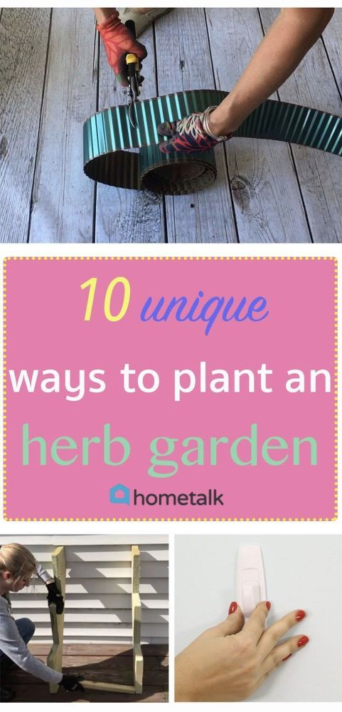 No need to plant your beloved herbs in boring planters after these ideas!