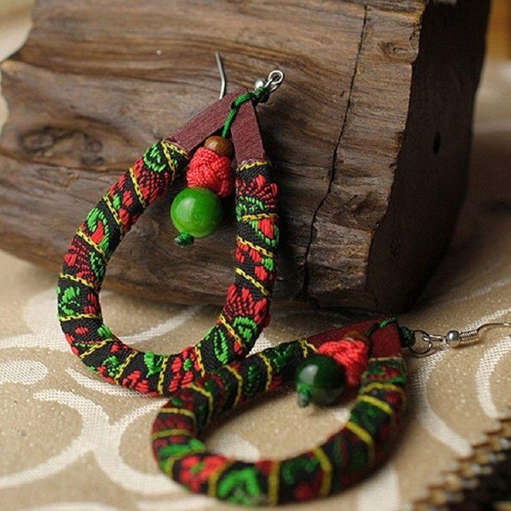 Multicolor Handmade Retro Earrings