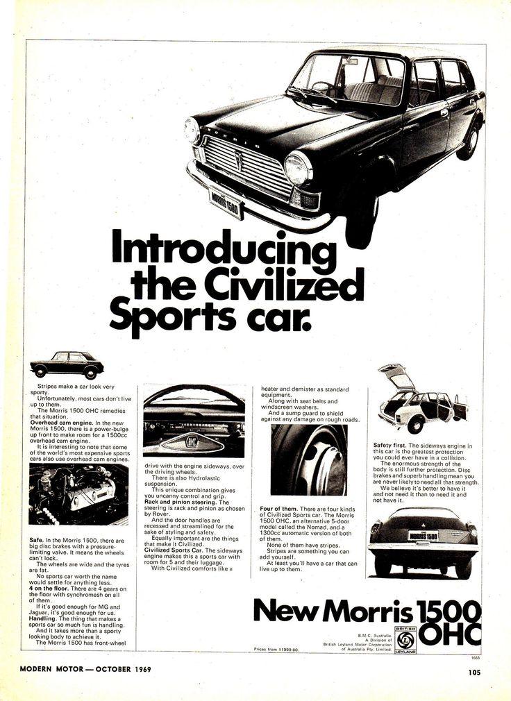 https://flic.kr/p/E3TuyA   1970 Morris 1500 OHC British Leyland Motor Corporatiotion Aussie Original Magazine Advertisement