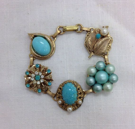 Earring Bracelet From Upcycled Vintage Earrings By
