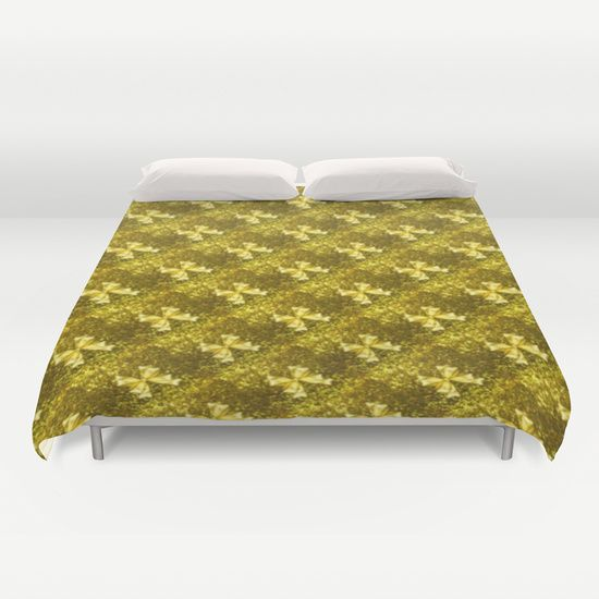 #Society6 Golden Bows  Duvet Cover
