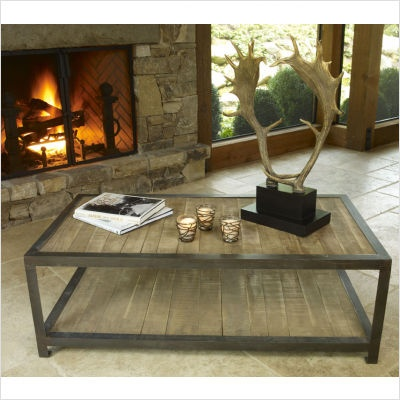 cool #coffee #table - love this recycled wood  coffee table @ www.homescapes-sd.com #staging