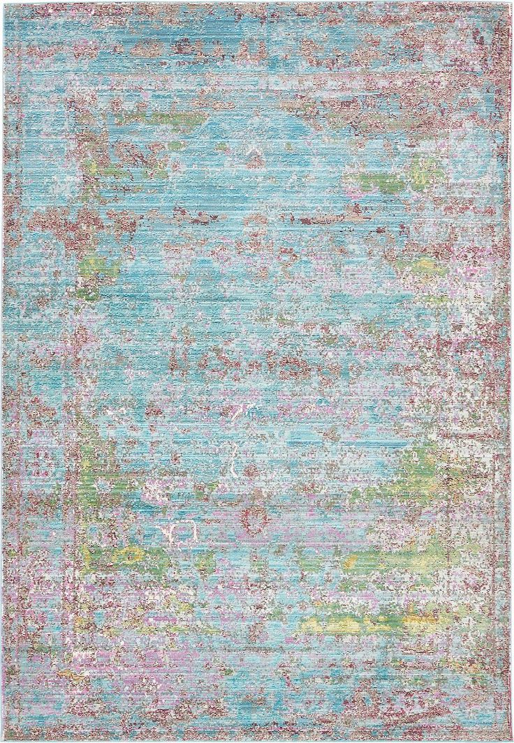 Blue 6' x 9' Aqua Rug | Area Rugs | eSaleRugs                                                                                                                                                     More