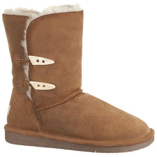 """Buy BEARPAW® Abigail 8"""" Toggle Boots - This adorable boot has a comfy inside with a sheepskin lining and rubber grip sole. The suede outside is beautiful. Cute…"""