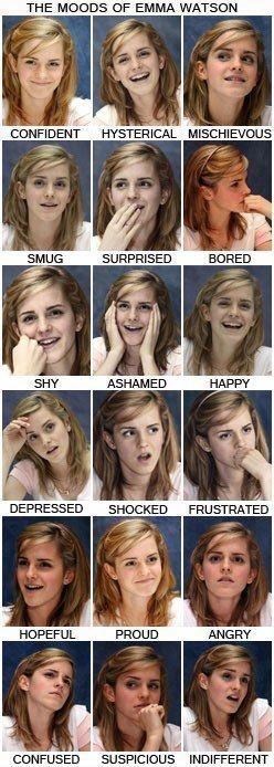 emma watson facial expressions  > Door je emoties te uiten, laat je aan anderen zien hoe het met je gaat.  >>> Ontdek spelenderwijs de taal van emoties. TIP's op www.LEKKER-in-je-...