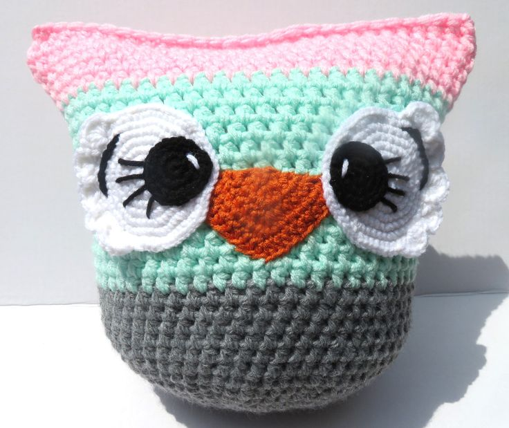 Crochet Owl Pillow by OlyasAdorablesStore on Etsy