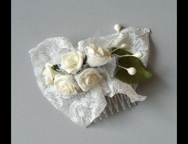 hairflowers creme roses