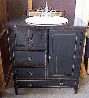 Antique Bathroom Vanity   Choose Genuine Or Reproductionrepurposed Dresser