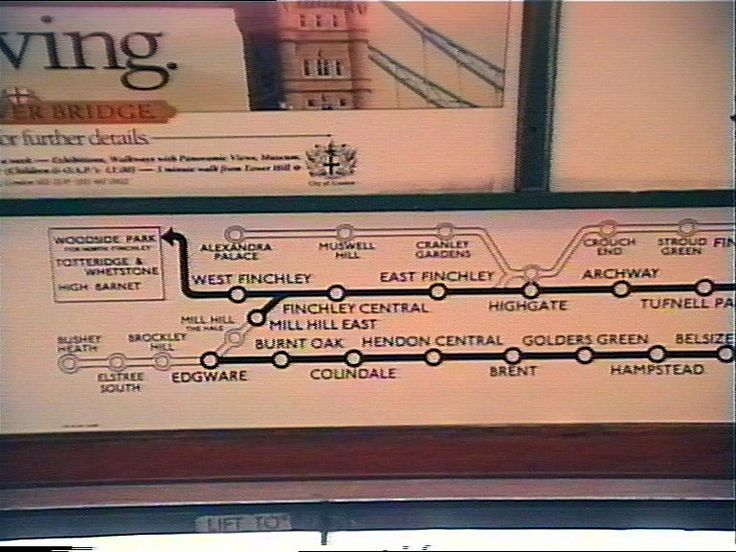 Mid S Northern Line Undergound Train I Remeber These With - Northern line map london