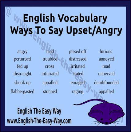 feeling upset synonym