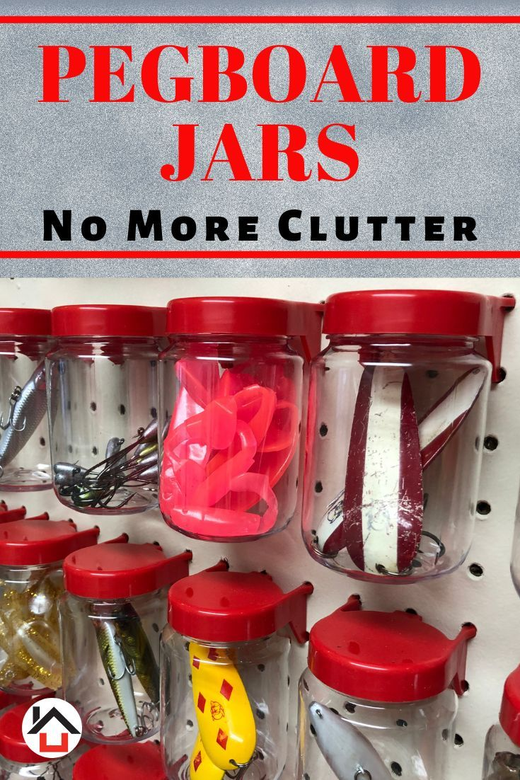 Tall Pegboard Accessories Organizer Storage Jars Large Size 2 X 4 Peg Board Attachments For Craft Sewing Garage Storage Set Of 6 Red Peg Board Jar Storage Pegboard Organization