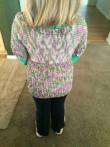 Loom knitted sweater by Jennifer O.