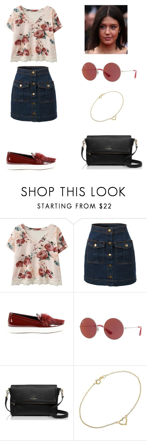 """Adèle Exarchopoulos"" by dakotahaileetayloradele ❤ liked on Polyvore featuring LE3NO, Versace 19•69, Ray-Ban, Kate Spade, Jennifer Meyer Jewelry and adeleexarchopoulos"