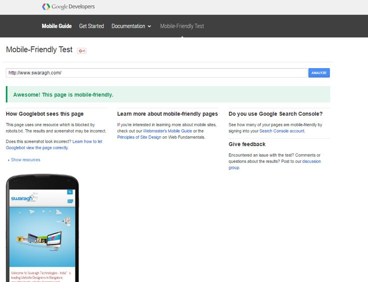 Google New Mobile Test Tool Update