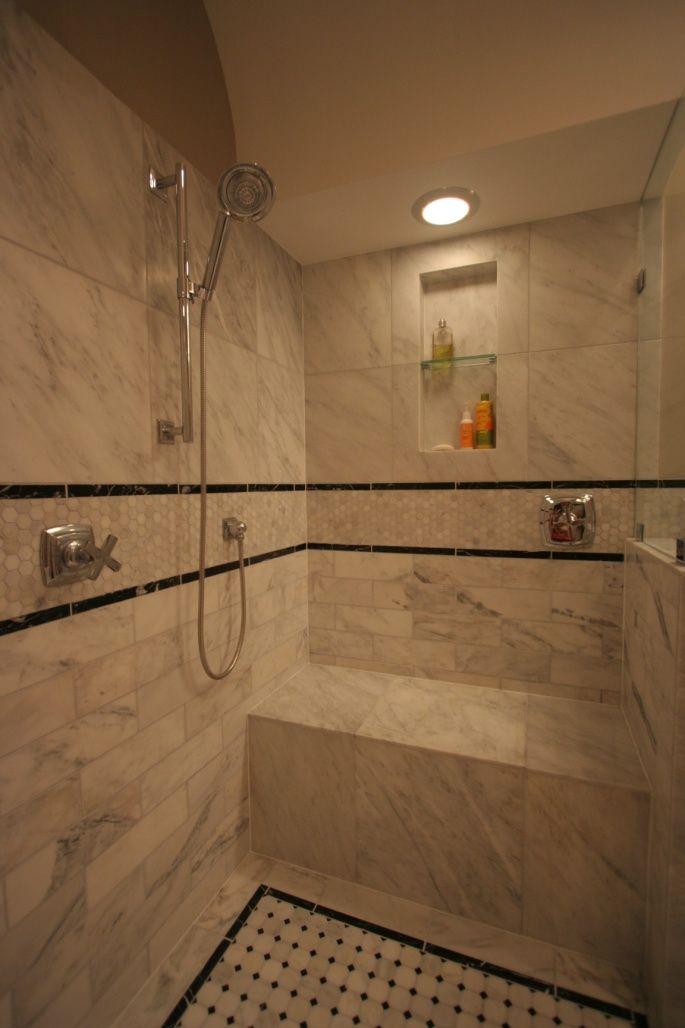 Shower niches google search shower designs pinterest for Bathroom niche design