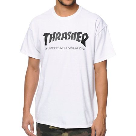 Get tons of comfort with the cotton construction of the iconic Thrasher Skate Mag black t-shirt.
