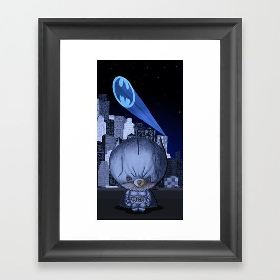 """""""Bat Bear"""" by I Love the Quirky - Framed Art Print. Available in mini, small, medium and large."""