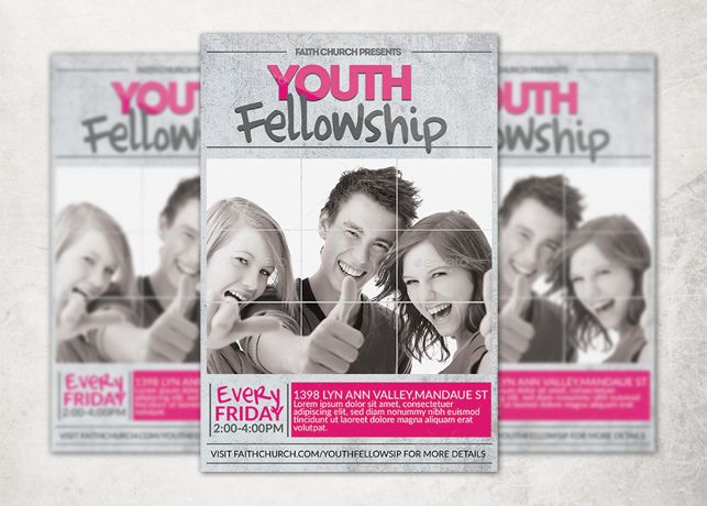 youth program flyer template design