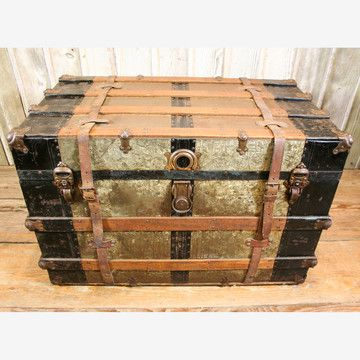 Vintage steamer trunk. I love these things!