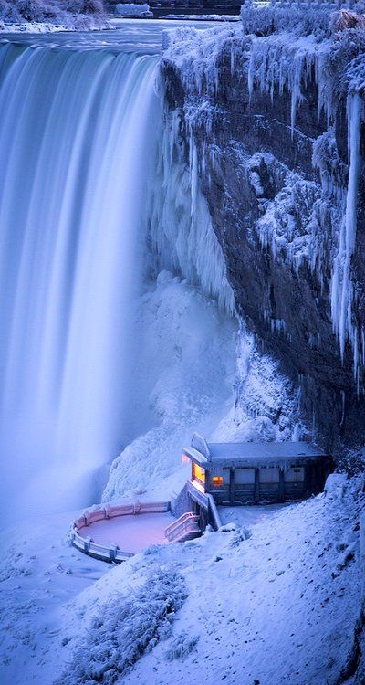 Niagara Falls in Winter. I really want to go back and see it in the winter.