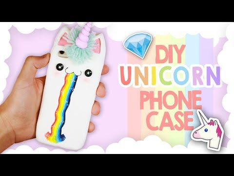 DIY | Kawaii Unicorn Phone Case Tutorial - Cover Unicorno Kawaii - YouTube
